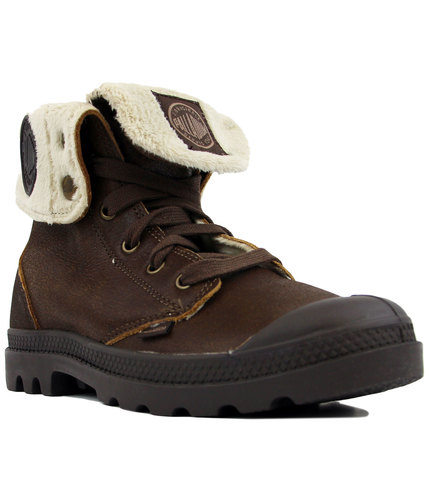 Baggy Leather FS PALLADIUM Retro Sherpa Trim Boots