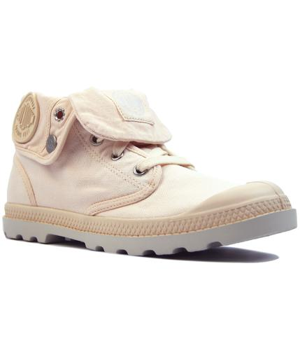 palladium baggy low retro 1970s linen boots peach