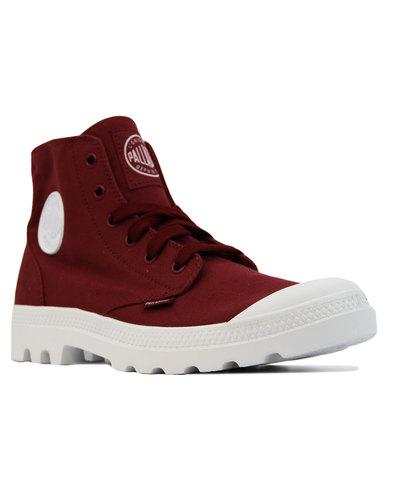 Blanc Hi PALLADIUM Retro Canvass Ankle Boots