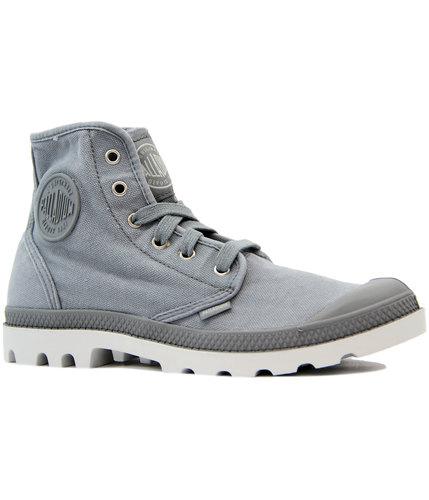 palladium pampa hi retro canvas hi top boots grey