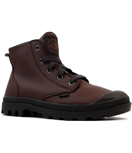 Pampa Hi VL PALLADIUM Retro Grain Leather Boots F