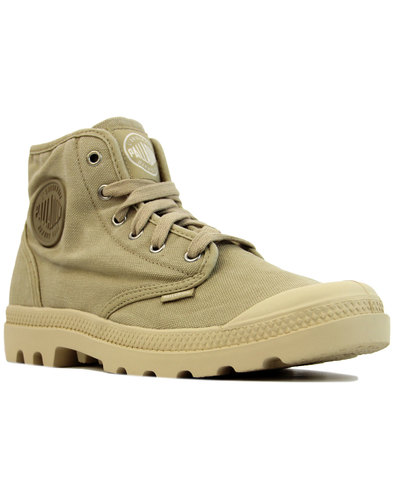 palladium pampa hi retro 1970s canvas boots sahara