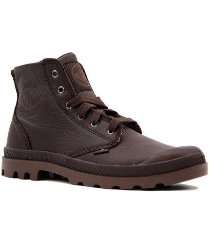 palladium pampa hi vl retro indie mod boots coffee