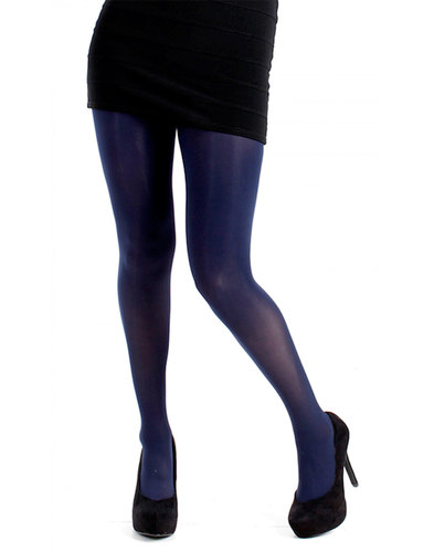+ PAMELA MANN 80 Denier Opaque Tights in Navy