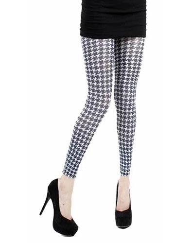 PAMELA MANN RETRO 60s MOD FOOTLESS TIGHTS DOGTOOTH