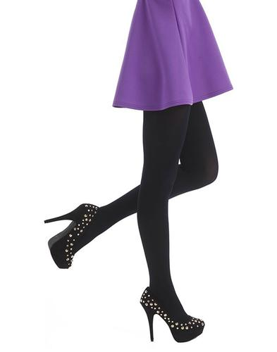 PAMELA MANN RETRO 80 DENIER BLACK TIGHTS