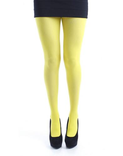 PAMELA MANN RETRO 50 DENIER YELLOW TIGHTS