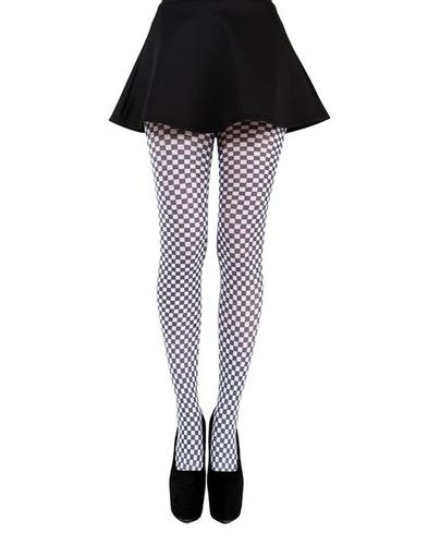 PAMELA MANN RETRO 60s MOD GINGHAM PRINT TIGHTS
