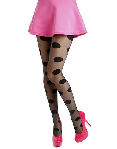 PAMELA MANN RETRO 60s MOD SPOT TIGHTS