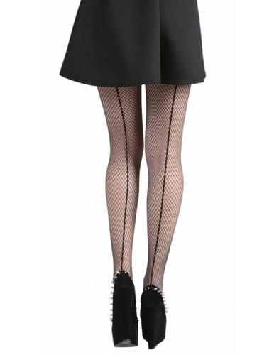 PAMELA MANN RETRO VINTAGE FISHNET SEAMED TIGHTS