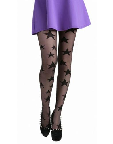 PAMELA MANN RETRO 60s MOD STAR PRINT TIGHTS