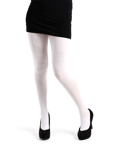PAMELA MANN RETRO 80 DENIER WHITE TIGHTS