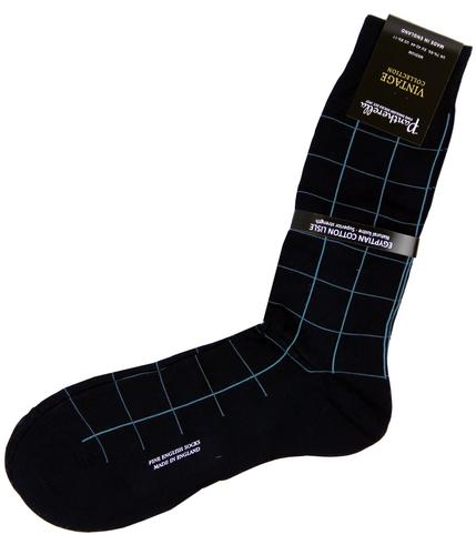 PANTHERELLA MENS RETRO MOD WINDOWPANE SOCKS