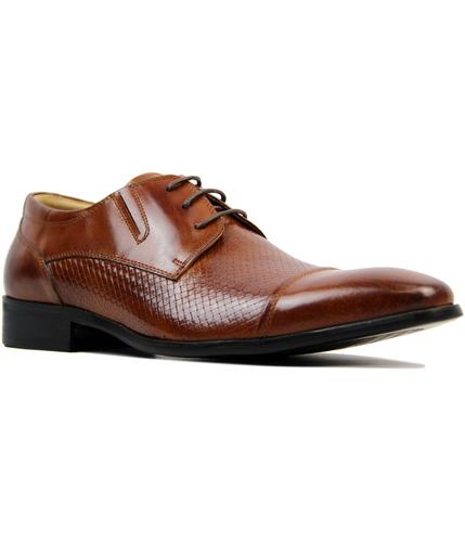 paolo vandini noak retro mod waxy tan dress shoes