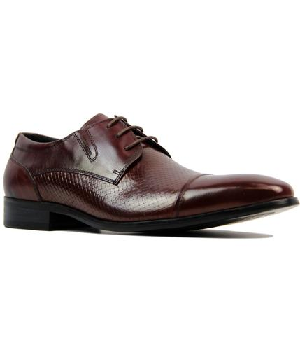 paolo vandini noak retro mod waxy wine dress shoes