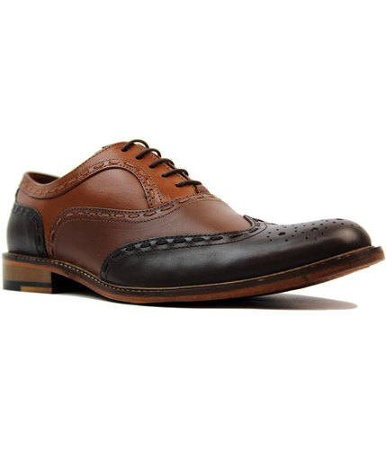 Penryn PAOLO VANDINI Mod Two Tone Oxford Brogues