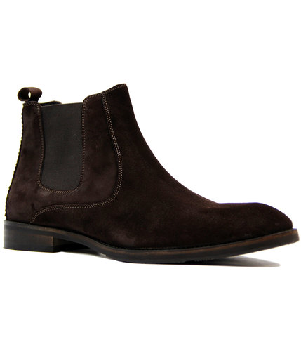 paolo vandini pulford 60s mod suede chelsea boots