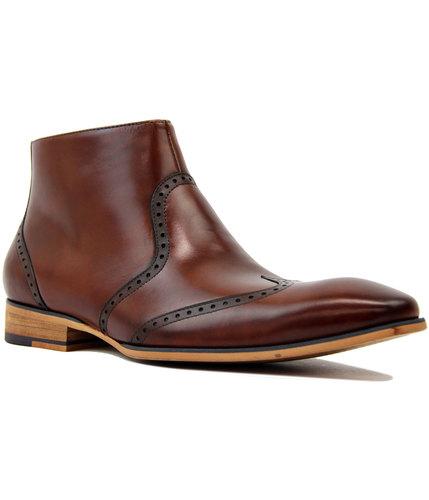 paolo vandini pymoor 60s mod brogue chelsea boots