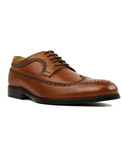 paolo vandini ryan wing mod retro tan shoes