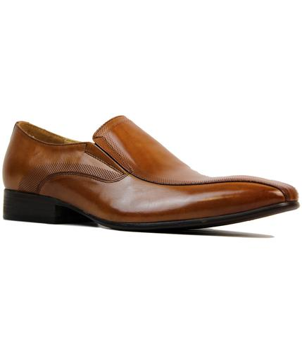 PAOLO VANDINI RETRO 60S MOD SLIP ON DRESS SHOES