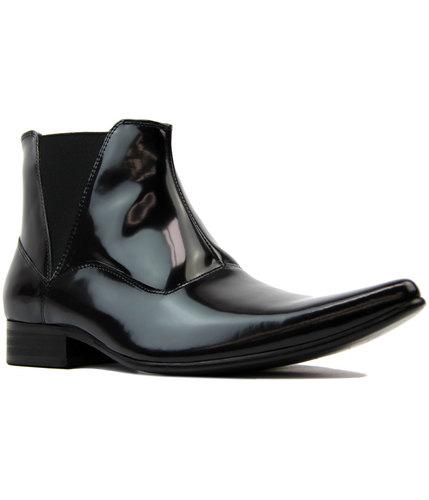 paolo vandini veer 20 mod 60s chelsea boots black