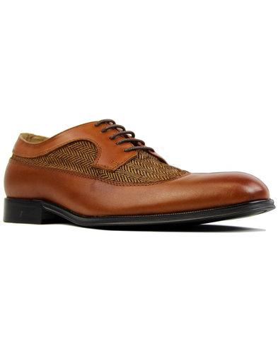 Roberto PAOLO VANDINI Mod Herringbone Tweed Shoes