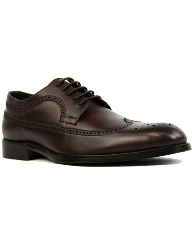 paolo vandini ryan retro 60s mod brogues brown
