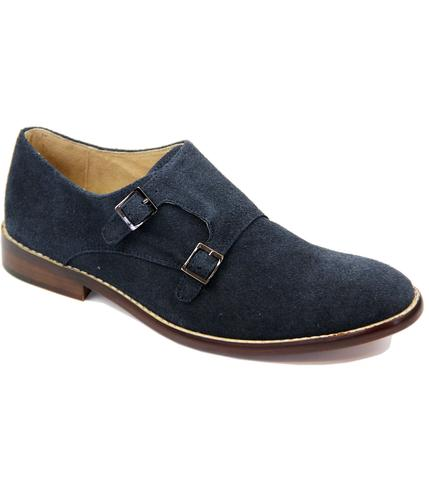 Lewis PAOLO VANDINI Double Monk Strap Suede Shoes