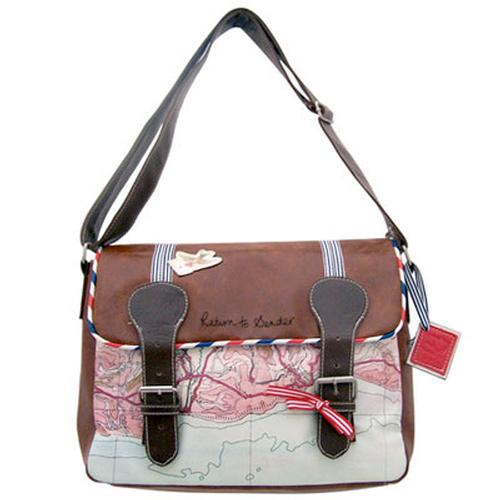 RETRO SATCHEL SHOULDER BAG PAPER PLANE BAG