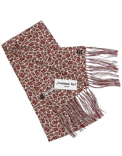 peckham rye paisley scarf red/cream