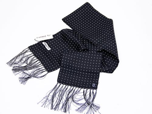 PECKHAM RYE MOD SILK SCARF LONDON DOT BLACK