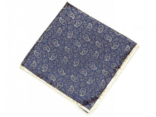 PECKHAM RYE RETRO MOD SILK PAISLEY POCKET SQUARE