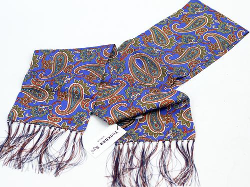 Ornate Paisley PECKHAM RYE Retro Mod Silk Scarf P
