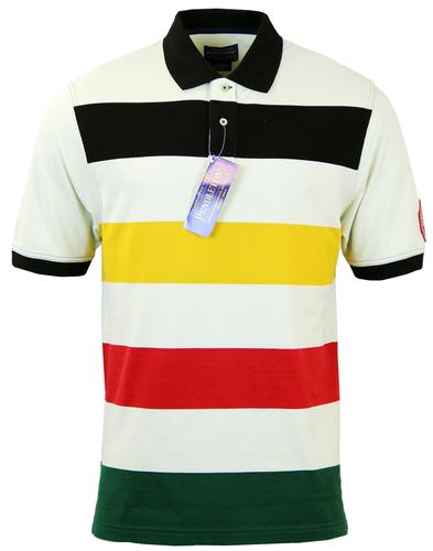 PENDELTON GLACIER PARK RETRO BLOCK STRIPE POLO TOP