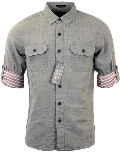 PENDLETON FAIRBANKS RETRO MOD ROLL SLEEVE SHIRT