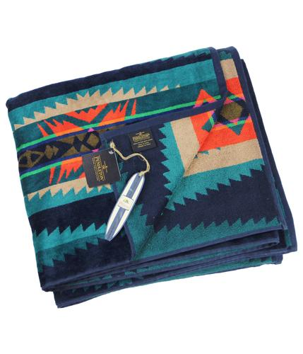 Lahaina Wave PENDLETON Retro 1960s Towel For Two
