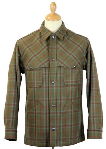 PENDLETON RETRO WOOL PLAID OVERSHIRT AMERICAN
