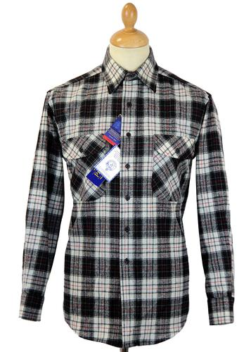 PENDLETON HERITAGE WOOL CHECK SHIRT BLACK