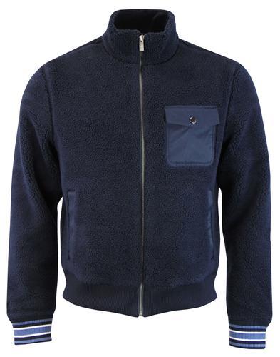 ORIGINAL PENGUIN Retro Teddy Fleece Bomber Jacket