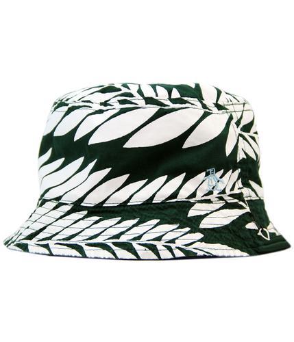 original penguin retro Indie leaf print bucket hat