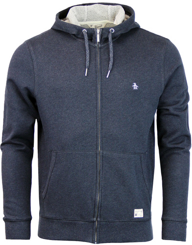 original penguin loop jacket hoodie dark sappphire