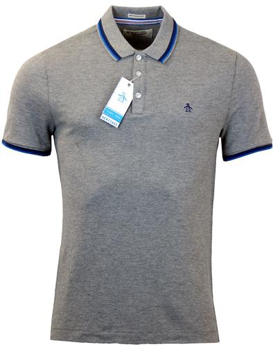 ORIGINAL PENGUIN VOLLEY RETRO MOD TIPPED POLO GREY