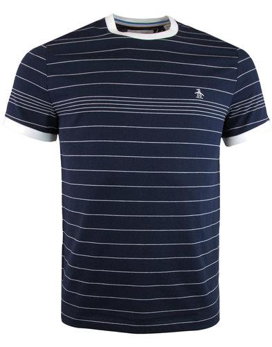 Penguin Retro Striped T-shirt Dark Sapphire