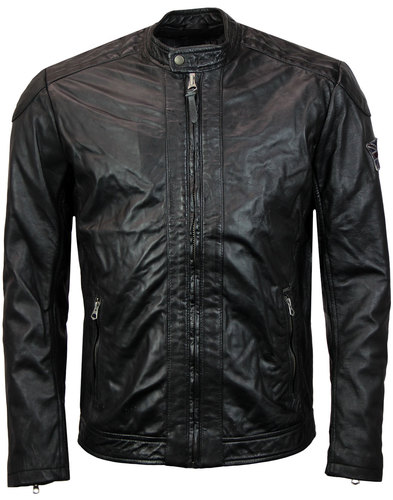 pepe jeans lennon retro 1970s indie leather jacket