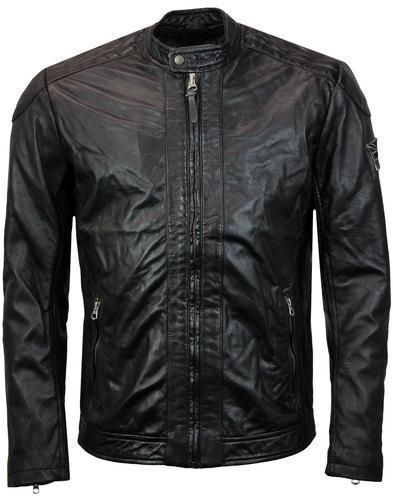 Lennon PEPE JEANS Retro 70s Leather Biker Jacket