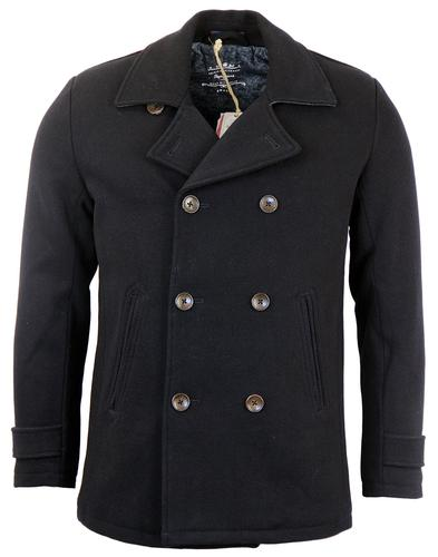 PEPE JEANS MENS RETRO MOD REEFER PEACOAT