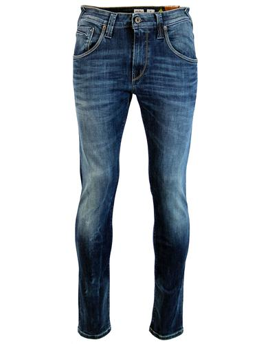 PEPE JEANS MENS RETRO ZINC DENIM JEANS BLUE