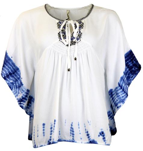 Matilde PEPE JEANS Retro 70s Kimono Style Tunic