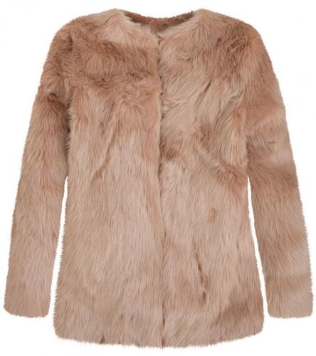 ANDY WARHOL RETRO 60s FAUX FUR COAT