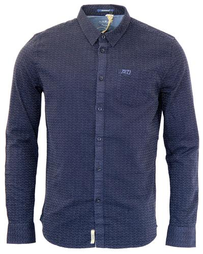 PEPE JEANS RETRO MOD MENS INDIGO DENIM SHIRT